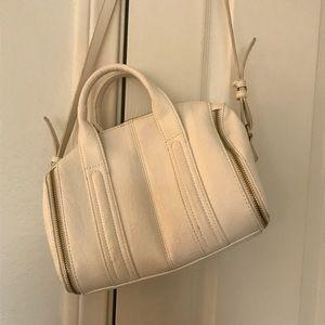 White crossbody purse